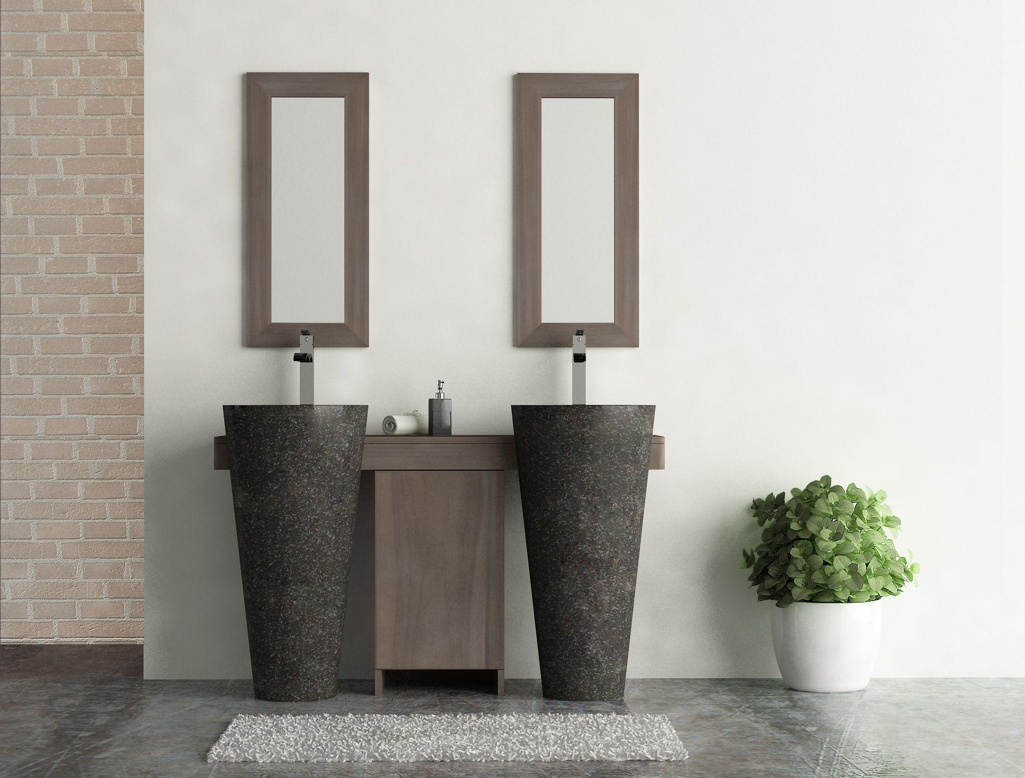 Habiller L Arrière D Un Meuble salle bain teck gris 140 cleopatra porte noir
