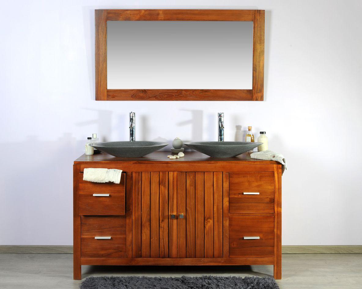 Meuble teck salle de bain 140 baggi