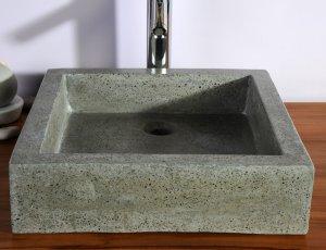 Timbre/vasque de salle de bain gris