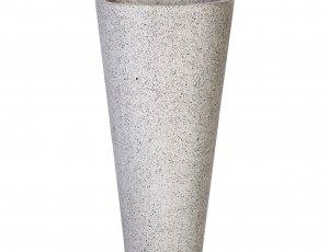 Vasque colonne de salle de bain sur pied grise
