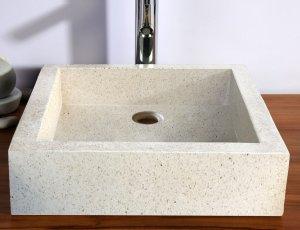vasque Timbre de salle de bain blanc
