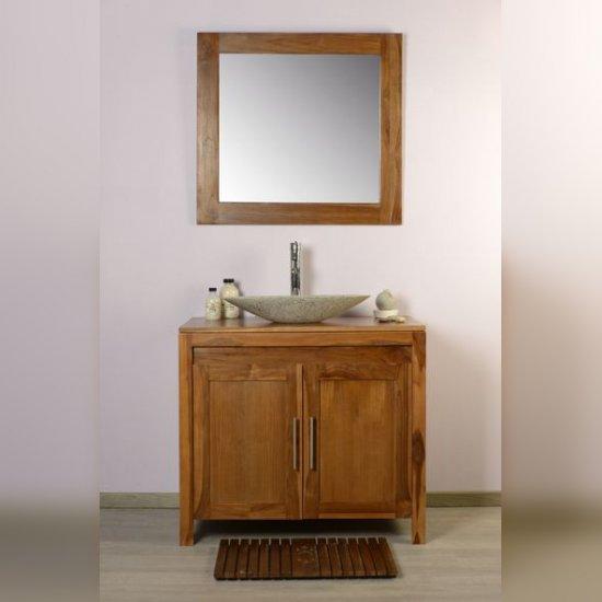 Meuble salle de bain teck 90 grey naturel