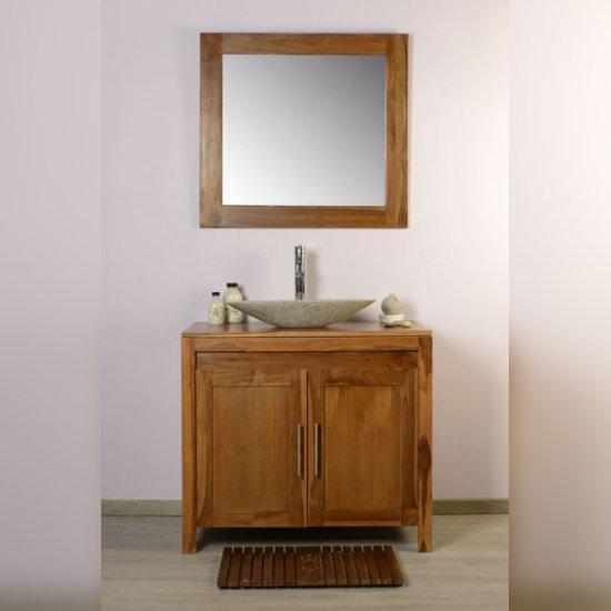 salle de bain teck 90 grey naturel ensemble