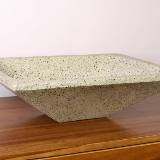 Vasque rectangulaire grise pigmentée