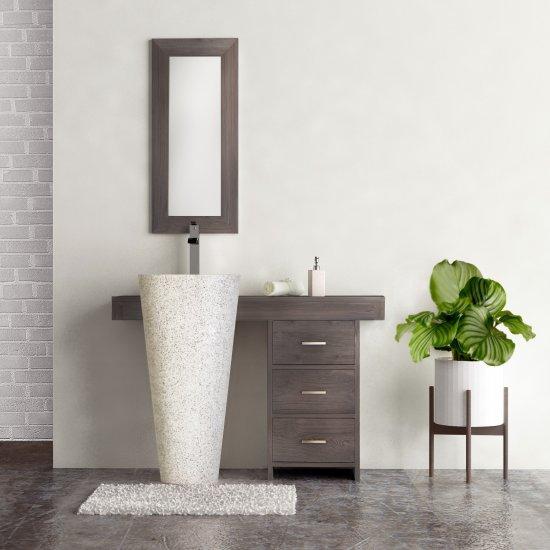 salle bain teck grisé cleopatra 120 tiroirs gris