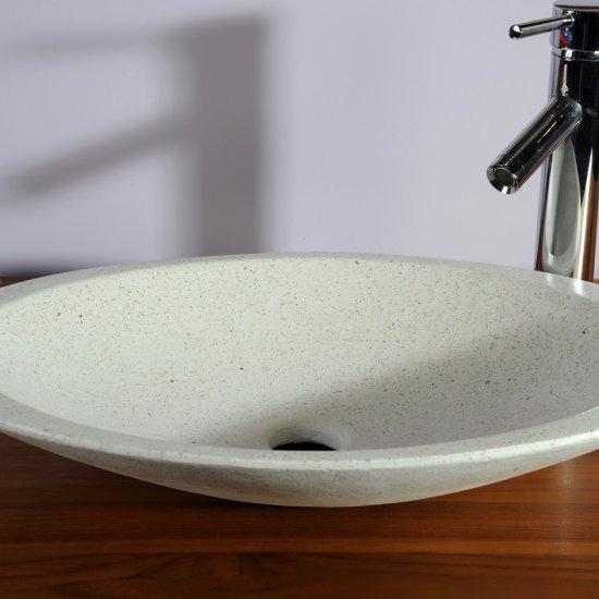 Vasque ovale blanche