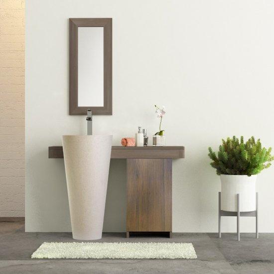 Salle bain teck cleopatra A3 simple porte blanc