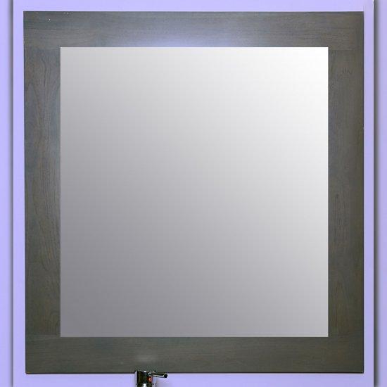 Miroir en teck 90 grey