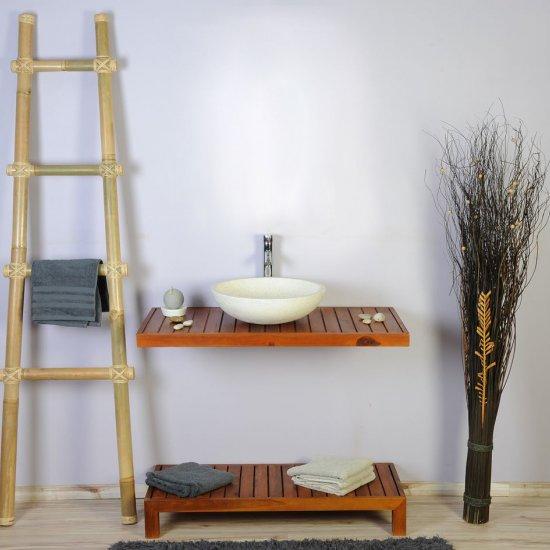 Meuble salle de bain teck 100 gempo