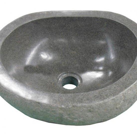 vasque en pierre de rivière