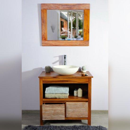 Meuble salle de bain teck ensemble 85 new savanah
