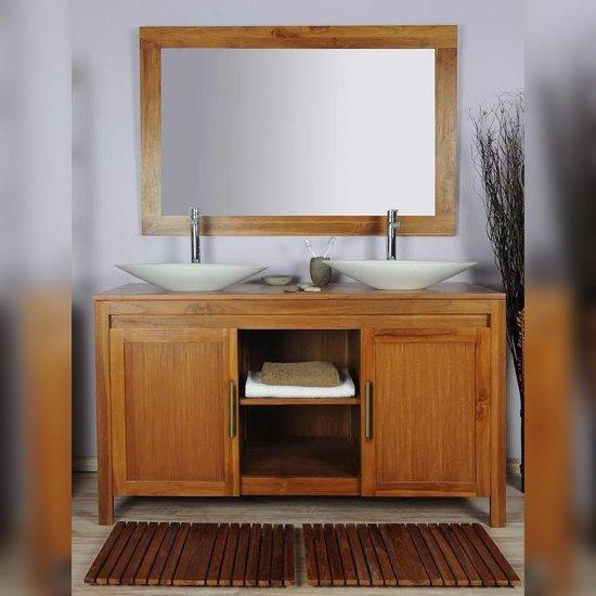 Salle de bain teck 140  naturel ensemble