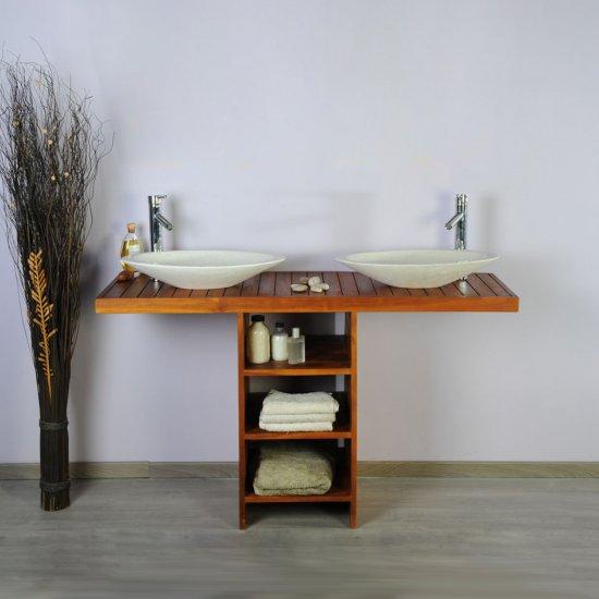 Meuble salle de bain  teck 140 new gempo