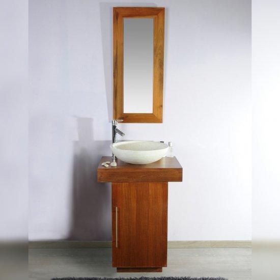 Meuble salle de bain teck 60 Eros