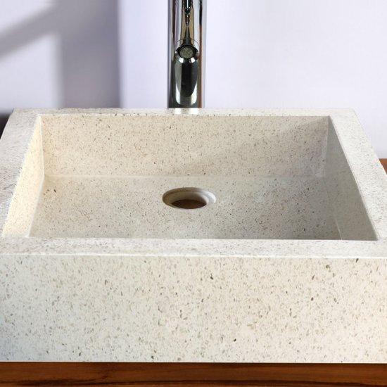 vasque Timbre blanc