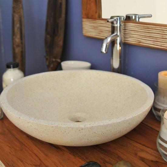 Vasque ronde blanche